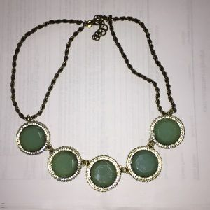 Banana Republic bronze and jade green necklace